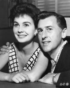 Jean Simmons and Stewart Granger after their Hollywood marriage