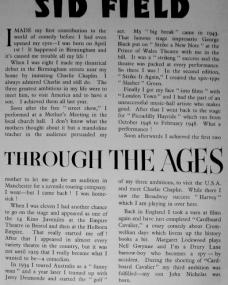 Magazine article about Sid Field entitled Through the Ages.  Part one.