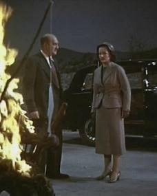 Margaret Lockwood (as Marissa Menzies) in a screenshot from Trouble in the Glen (1954) (1)