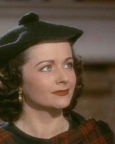 Margaret Lockwood (as Marissa Menzies) in a screenshot from Trouble in the Glen (1954) (3)