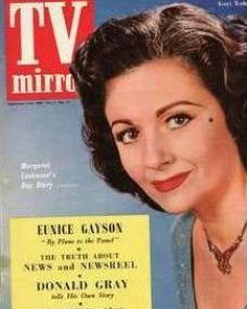 TV Mirror magazine with Margaret Lockwood.  September, 1954.