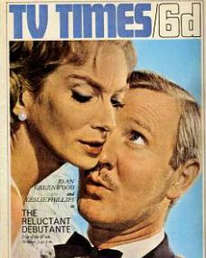 TV Times magazine with Joan Greenwood and  Leslie Phillips in The Reluctant Debutante.  26th February, 1966.