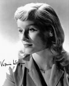 British actress, Virginia McKenna, wears a crucifix pendant