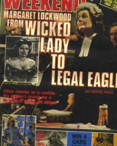 Weekend magazine with Margaret Lockwood in Justice.  6th March, 1973.  Margaret Lockwood from wicked lady to legal eagle.
