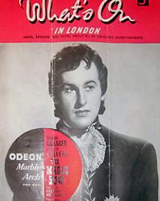 What's On in London magazine with Stewart Granger in The Magic Bow.  11th October, 1946.  Screening at the Odeon, Marble Arch.