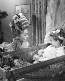 Margaret Lockwood (as Lucy) and Julia Lockwood (as Norey) in a photograph from The White Unicorn (1947) (13)