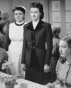 Bryl Wakely (as Matron of Remand home) and Margaret Lockwood (as Lucy) in a photograph from The White Unicorn (1947) (19)