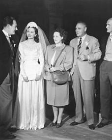 Welcome visitors to Nettlefold studios were and Henry Edwards who are seen chatting to the stars of the film Ian Hunter and Margaret Lockwood. Stewart Rome, a great friend of the Edwards and a well known silent star, looks on. He plays the role of Margaret Lockwood's father in The White Unicorn