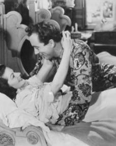Margaret Lockwood (as Lucy) and Dennis Price (as Richard Glover) in a photograph from The White Unicorn (1947) (9)
