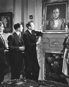 Eileen Peel (as Joan), John Boxer, Guy Middleton (as Fobey) and Margaret Lockwood (as Lucy) in a photograph from The White Unicorn (1947) (95)