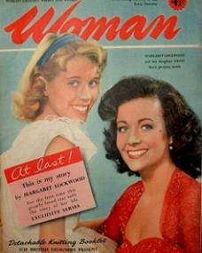 Woman magazine with Julia Lockwood and  Margaret Lockwood.  19th February, 1955.  At last!  This is my story, by Margaret Lockwood.