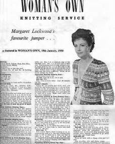 Woman's Own magazine with Margaret Lockwood.  19th January, 1950.