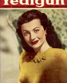 Yedigun magazine with Margaret Lockwood.  (Turkish)