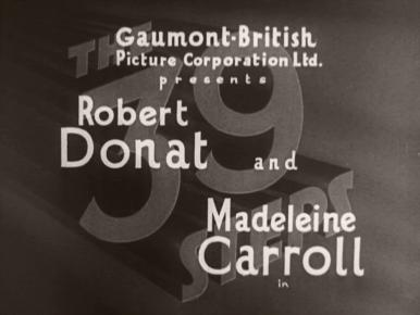 The 39 Steps (1935) opening credits (1)
