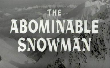 Main title from The Abominable Snowman (1957)