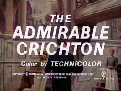 Main title from The Admirable Crichton (1957) (5).  Color by Technicolor