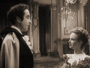 Lady Caroline meets the mad, bad and dangerous to know, Lord Byron.   Joan Greenwood and Dennis Price in a film clip from The Bad Lord Byron.