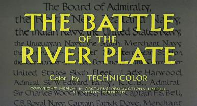 Main title from The Battle of the River Plate (1956)