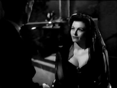 Barry K Barnes and Margaret Lockwood in a film clip from Bedelia