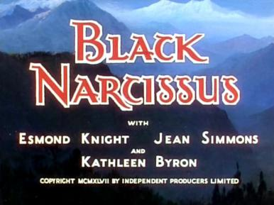 Main title from Black Narcissus (1947).  Anglo-Catholic nuns in the Himalayas have trouble with climate, morale and one of their number who goes mad with sexual frustration