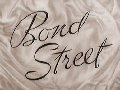 Main title from Bond Street (1948).  Four stories, each concerning an item of expensive wedding trousseau