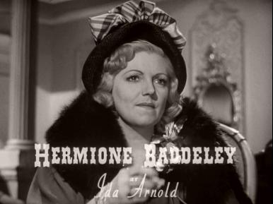 Main title from Brighton Rock (1948) (3).  Hermione Baddeley as Ida Arnold
