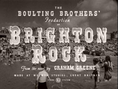 Main title from Brighton Rock (1948) (5).  The Boulting Brothers production of Brighton Rock from the novel by Graham Greene.  Made at Welwyn Studios Great Britain.  RCA sound system