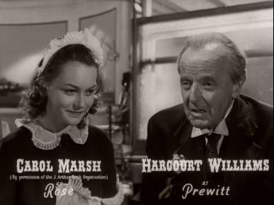 Main title from Brighton Rock (1948) (7).  Carol Marsh as Rose Harcourt Williams as Prewitt