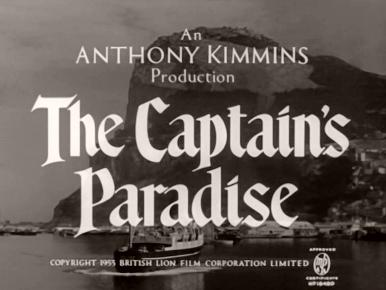 Main title from The Capt's Paradise (1953) (3).  An Anthony Kimmins production.  Copyright 1953 British Lion Film Corporation Limited