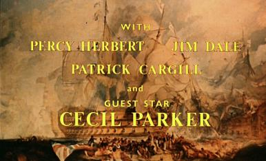 Main title from Carry on Jack (1964) (4).  With Percy Herbert Jim Dale, Patrick Cargill and guest star, Cecil Parker
