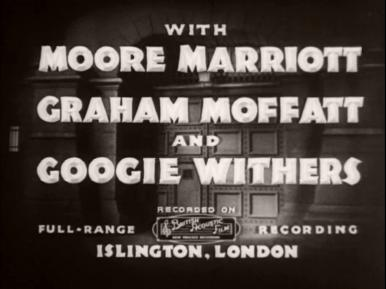 Main title from Convict 99 (1938) (3).  With Moore Marriott Graham Moffatt and Googie Withers.  Recorded on British Acoustic Film full-range  recording, Islington, London