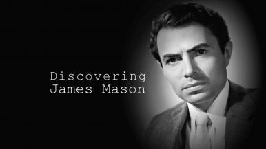 Main title from the 'Discovering: James Mason' episode of Discovering Film featuring James Mason