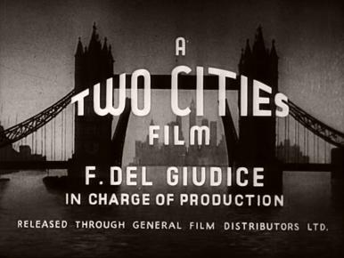 Main title from Fame Is the Spur (1947) (2).  A Two Cities Films film.  F Del Giudice in charge of production
