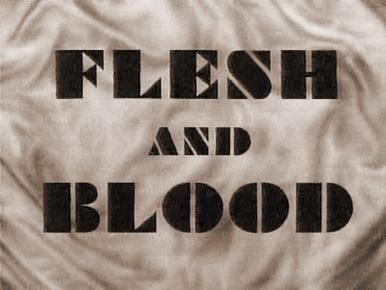 Main title from Flesh and Blood (1951).  Three generations of a family suffer from the effects of heredity.