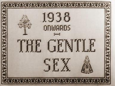 Main title from The Gentle Sex (1942).  Seven girls from different backgrounds are conscripted into the ATS.