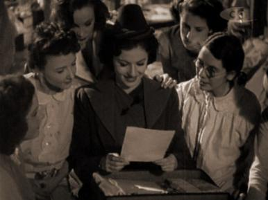 Margaret Lockwood in a film clip from A Girl Must Live