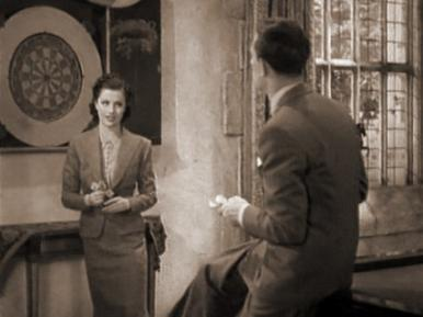 Hugh Sinclair, Margaret Lockwood, Lilli Palmer and Renee Houston in a film clip from A Girl Must Live