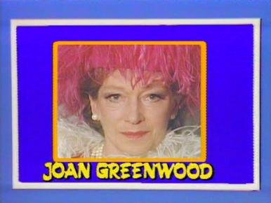 Joan Greenwood (as Lady Chloe Carlton) in a screenshot from Girls on Top (1985-86) (15)