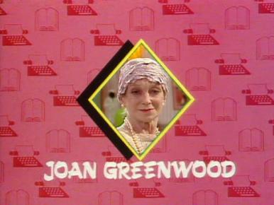 Joan Greenwood (as Lady Chloe Carlton) in a screenshot from Girls on Top (1985-86) (16)