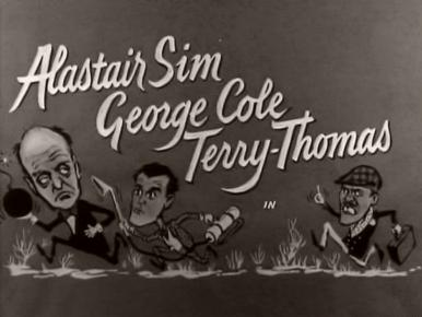 Main title from The Green Man (1956) (1).  Alastair Sim George Cole, Terry-Thomas
