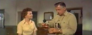 Barbara Rush (as Christian Tanner) and Stewart Granger (as Harry Black) in a screenshot from Harry Black (1958) (2)