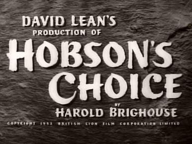 Main title from Hobson's Choice (1954)
