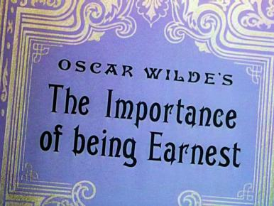 Main title from The Importance of Being Earnest (1952).  Two wealthy and eligible bachelors of the 1890s have problems with their marriage prospects.