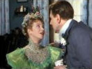 Joan Greenwood and Michael Redgrave in a film clip from The Importance of Being Earnest