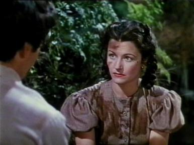 Dermot Walsh and Margaret Lockwood in a film clip from Jassy