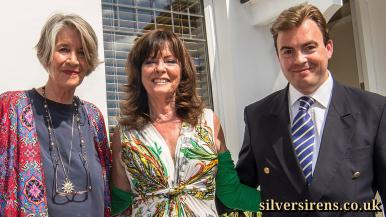 Actresses Julia Lockwood and Vicki Michelle join Richard Williams at the unveiling of a commemorative plaque for Julia's mother, 1940s British film star Margaret Lockwood