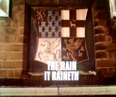 Main title from the 1971 episode of Justice (1971-74) called The Rain it Raineth (1971)