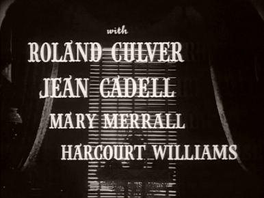 Main title from The Late Edwina Black (1951) (4)  With Roland Culver Jean Cadell, Mary Merrall, Harcourt Williams