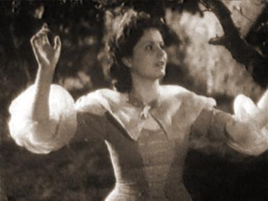 John Loder, Roger Livesey and Margaret Lockwood in a film clip from Lorna Doone