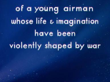 Main title from A Matter of Life and Death (1946) (19)…of a young airman whose life & imagination have been violently shaped by war